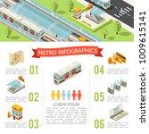 isometric metro infographic... | Shutterstock .eps vector #1009615141