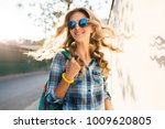 portrait of stylish smiling... | Shutterstock . vector #1009620805