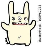 Cartoon Mutant Rabbit With...