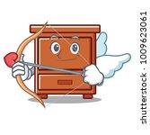 cupid wooden drawer character... | Shutterstock .eps vector #1009623061