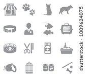 pet shop icons. gray flat... | Shutterstock .eps vector #1009624075