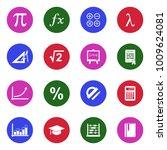 mathematics icons. white flat... | Shutterstock .eps vector #1009624081