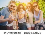 people dancing at outdoor party | Shutterstock . vector #1009632829