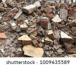 demolish building with debris... | Shutterstock . vector #1009635589
