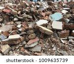 demolish building with debris... | Shutterstock . vector #1009635739