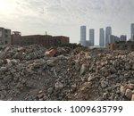 demolish building with debris... | Shutterstock . vector #1009635799