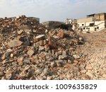 demolish building with debris... | Shutterstock . vector #1009635829