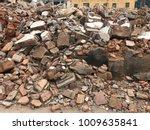 demolish building with debris... | Shutterstock . vector #1009635841
