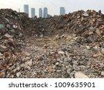 demolish building with debris... | Shutterstock . vector #1009635901