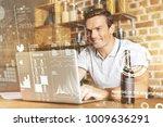 involved in work. joyful... | Shutterstock . vector #1009636291
