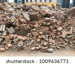 demolish building with debris... | Shutterstock . vector #1009636771