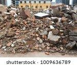 demolish building with debris... | Shutterstock . vector #1009636789