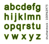 lowercase letters of the... | Shutterstock . vector #100963975