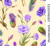 seamless watercolor pattern of... | Shutterstock . vector #1009643551