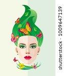 vector abstract image of summer ... | Shutterstock .eps vector #1009647139