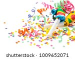 noisemakers  streamers and... | Shutterstock . vector #1009652071