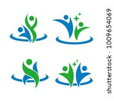 hand people abstract leaf logo | Shutterstock .eps vector #1009654069