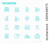 vaccination thin line icons set ... | Shutterstock .eps vector #1009658575