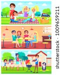 family eats together out of... | Shutterstock . vector #1009659211