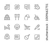 set of medical icons | Shutterstock .eps vector #1009662751