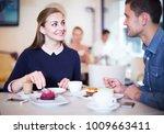 happy couple spending time... | Shutterstock . vector #1009663411