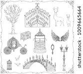 Fairy Tale Theme. Vintage Gate...
