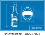 Blueprint Of Beer Bottle
