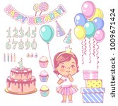 birthday party element set.... | Shutterstock .eps vector #1009671424