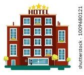 vector flat design hotel... | Shutterstock .eps vector #1009680121