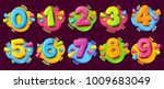 Colored Cartoon Numbers. Vecto...