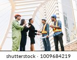 Small photo of Engineers group and worker meeting handshake with business owners after receiving a great deal.