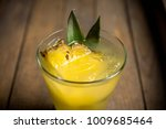 sweet mai tai cocktail with... | Shutterstock . vector #1009685464