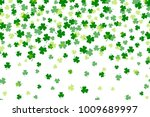 Clover Leaf Flat Design Green...