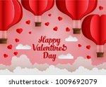 happy valentines day. vector...   Shutterstock .eps vector #1009692079