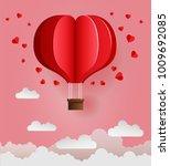 happy valentines day. vector...   Shutterstock .eps vector #1009692085