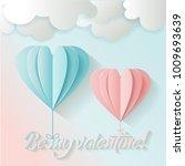 love card for valentine's day.... | Shutterstock .eps vector #1009693639