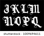 hand drawn ink gothic style... | Shutterstock .eps vector #1009694611