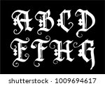 hand drawn ink gothic style... | Shutterstock .eps vector #1009694617