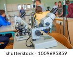 the biology classroom. there... | Shutterstock . vector #1009695859