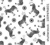 zebra seamless pattern with...   Shutterstock .eps vector #1009696831