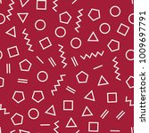 memphis style geometric... | Shutterstock .eps vector #1009697791