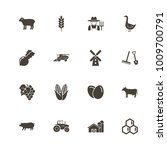 farming icons. perfect black... | Shutterstock .eps vector #1009700791