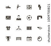 soccer icons. perfect black... | Shutterstock .eps vector #1009700821