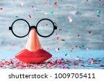 closeup of a pair of fake black ...   Shutterstock . vector #1009705411