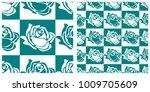 seamless pattern in single... | Shutterstock .eps vector #1009705609