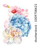 watercolor  hand drawing ... | Shutterstock . vector #1009708621