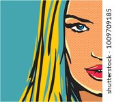 pop art comic woman | Shutterstock .eps vector #1009709185