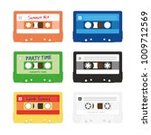 six colorful audio music...   Shutterstock .eps vector #1009712569