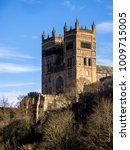 Small photo of DURHAM, COUNTY DURHAM/UK - JANUARY 19 : The Cathedral in Durham, County Durham on January 19, 2018