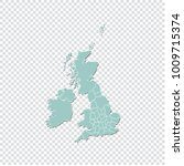 uk counties map   high detailed ... | Shutterstock .eps vector #1009715374